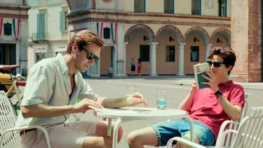 Armie Hammer and Timothee Chalamet in Call Me By Your Name.