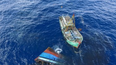 Indonesia has sunk dozens of Vietnamese, Filipino, Thai and Malaysian fishing boats since 2016.