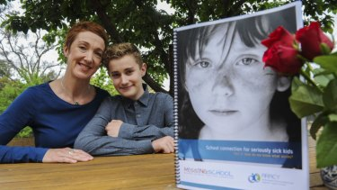 Co-founder of Missing School Megan Gilmour and her son Darcy.