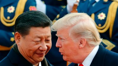 Chinese President Xi Jinping with US President Donald Trump in November 2017.