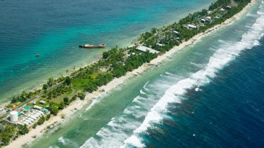 Tuvalu is a tiny nation vulnerable to rising sea levels.