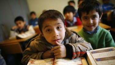 Uighur refugee boys who fled China to Turkey in 2015.
