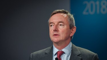 Rio Tinto chairman Simon Thompson, pictured in Melbourne in 2018.