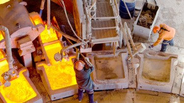 Gold miners lifted sharply on Wednesday.