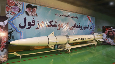 """A news agency, close to the Guard, said a ceremony marking the inauguration of the ballistic missile was held in an underground missile factory described as an """"underground city""""."""