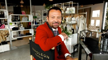 Cosmetics king Napoleon Perdis' retail empire has collapsed.