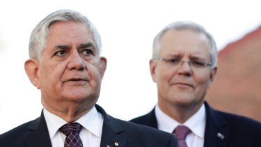Minister for Senior Australians and Aged Care Ken Wyatt with Prime Minister Scott Morrison.
