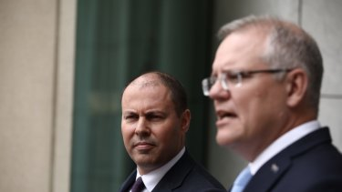 Prime Minister Scott Morrison and Treasurer Josh Frydenberg could face budgetary issues if household spending begins to slow.
