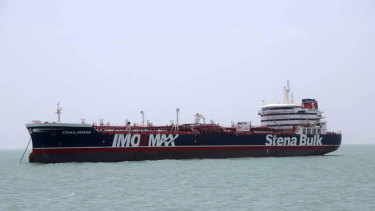 British-flagged oil tanker Stena Impero, which was seized by the Iran's Revolutionary Guard on Friday.