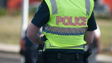 A Senior Constable saw the incident unfold and approached the man before she became involved in a struggle with the man.