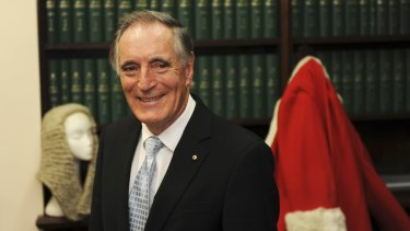 Retired Supreme Court judge Frank Vincent oversaw an inquiry into the Open Courts Act.