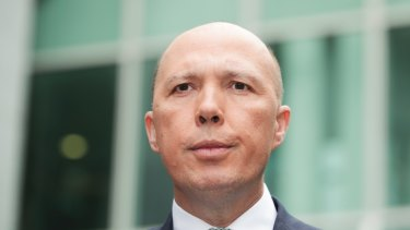 Peter Dutton during the leadership contest.