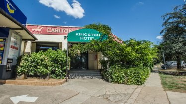 Canberra's Kingston Hotel was well-populated by Coalition staff on Sunday ahead of budget day.