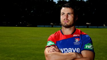 """Taking legal action: James McManus is seeking damages, costs and interest from Newcastle Knights after suffering from """"traumatic brain injury"""", """"post-concussive syndrome"""" and """"chronic traumatic encephalopathy""""."""