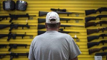 A gun store in Albuquerque, New Mexico.