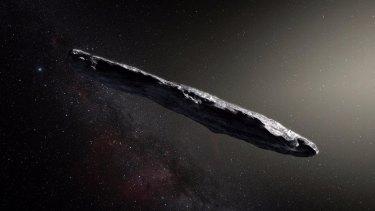 Interstellar asteroid Oumuamua.