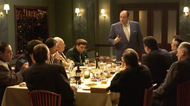 James Gandolfini as mob boss Tony Soprano.