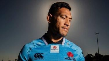 Sacked rugby star Israel Folau.