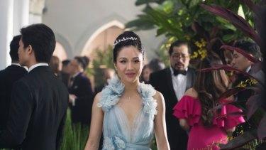 Constance Wu as Rachel Chu in Crazy Rich Asians.