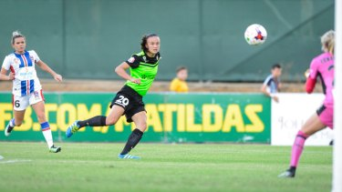 Ruled out: Matildas' midfielder Amy Sayer will not play against Chile due to a foot injury.