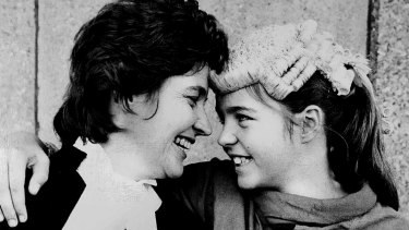 Virginia Lydiard with daughter Juliet in 1983 when Virginia became a barrister in NSW.