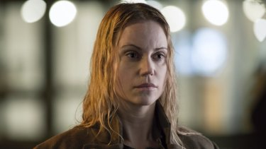 Sofia Helin as Saga Noren in The Bridge.