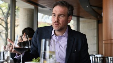 Bugbear ... New York Times columnist Bret Stephens on a trip to Australia in 2017.