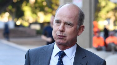 Former IOOF CEO Chris Kelaher leaving court earlier this month.