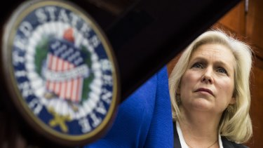 Democratic Senator Kirsten Gillibrand has been outspoken against sexual harassment.