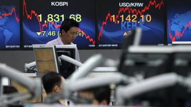 'Peace stocks' on the Korean stock exchange were rattled by the breakdown of the talks.