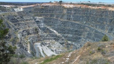 The Greenbushes lithium mine in Western Australia.