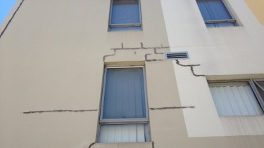 Defects in a Sydney building.