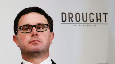 "Agriculture Minister David Littleproud said Labor was ""playing politics"" with the drought."