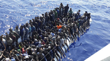 Four boats, carrying some 490 African migrants, were just some of the vessels intercepted off the coast of Libya last year.