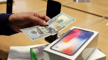 The iPhone X's high starting price has helped boost Apple's profits.