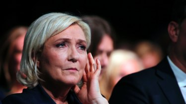 French far right leader Marine Le Pen.