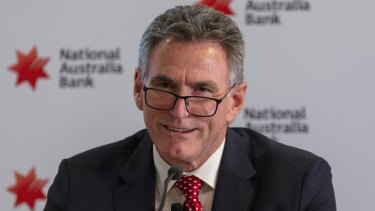 Ross McEwan in Melbourne on the day of his appointment as the new CEO of NAB.