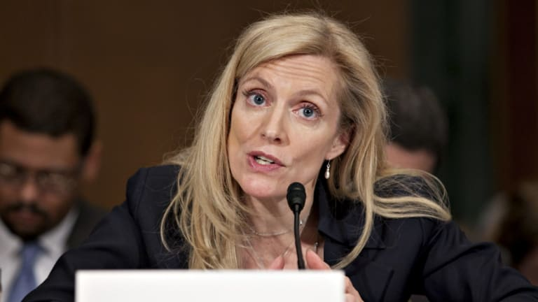 Federal Reserve Governor Lael Brainard raises the prospect of the federal funds rate doubling within two years