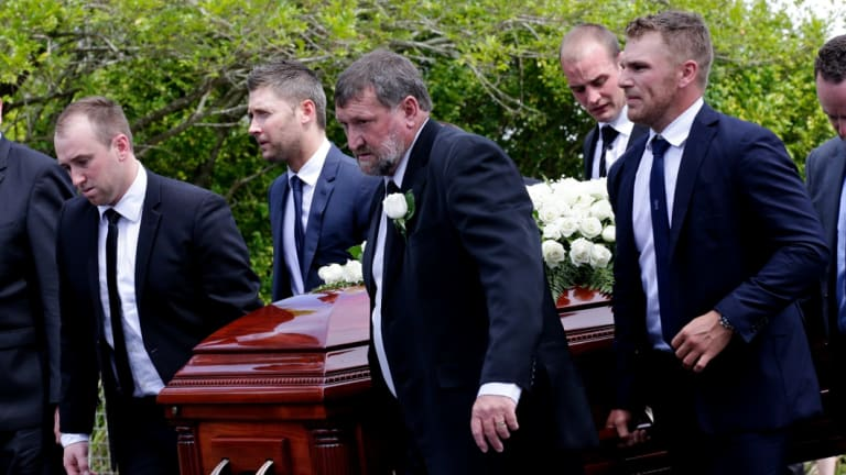 Aaron Finch was a pallbearer at Phillip Hughes' funeral.
