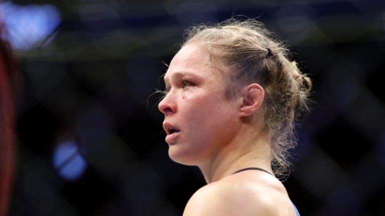 Ronda Rousey has jumped across to women's wrestling as the sport gains traction here.