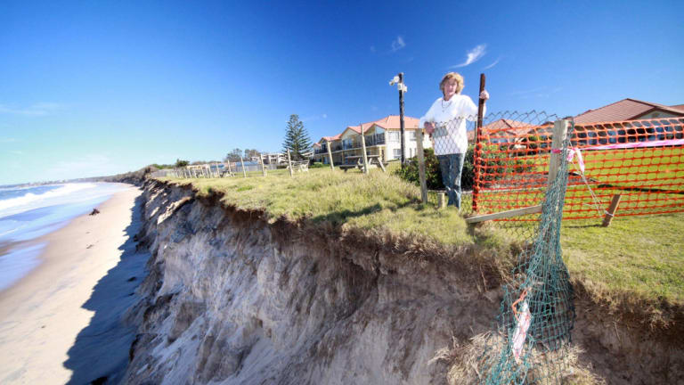 The threat of sea-level rise ...  erosion at Old Bar, NSW.