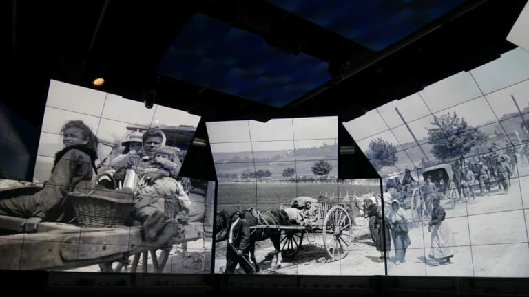 A multimedia temple? The Sir John Monash Centre, set on the grounds of the Villers-Bretonneux Military Cemetery.