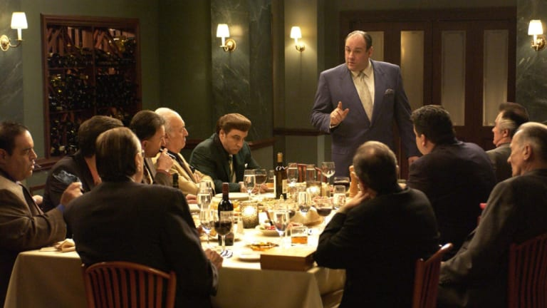 James Gandolfini as mob boss Tony Soprano.