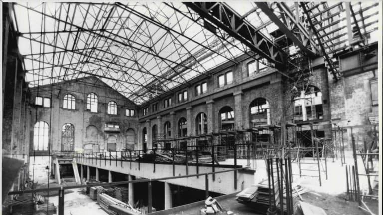 The $38 million Powerhouse Museum taking shape in 1986.