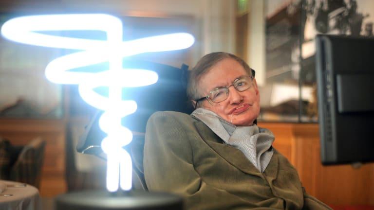 A brilliant mind: The late Professor Stephen Hawking.