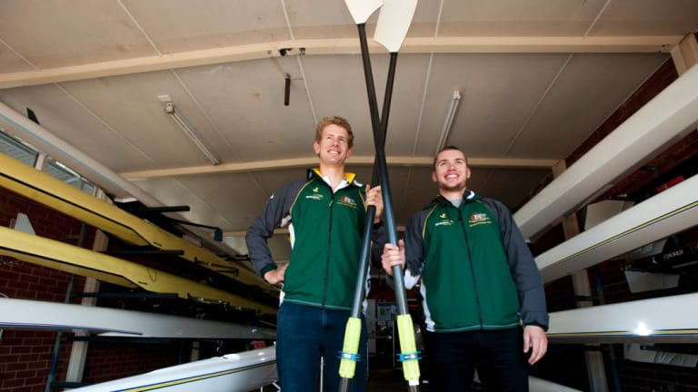 ACTAS rowers Luke Letcher and Caleb Antill have won gold at the World Championships in the Netherlands in February in the U23 Quad. Photo Elesa Kurtz