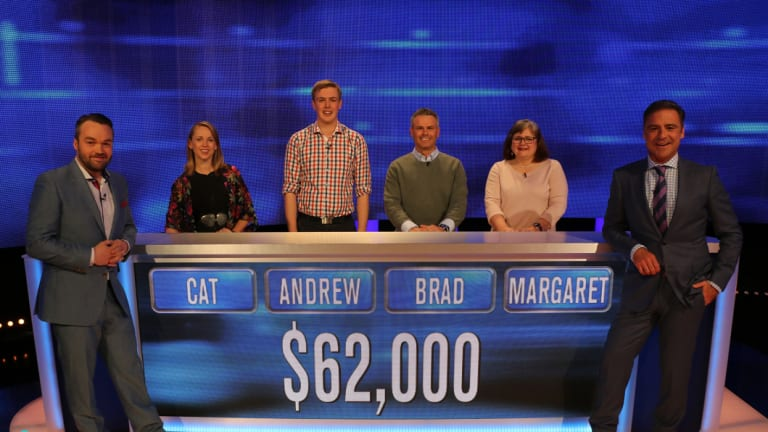 Journalist Andrew Brown on the set of The Chase Australia.
