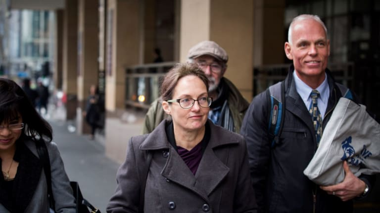 Kathleen Clubb leaves court in 2017.