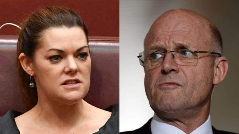 Sarah Hanson-Young filed defamation proceedings against David Leyonhjelm in the Federal Court on Wednesday.