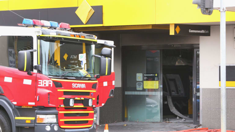 The Springvale Commonwealth Bank branch after the fire in November.